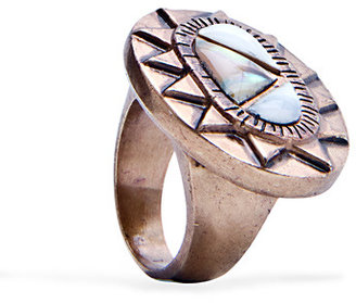 MANGO TOUCH - Encrusted stone metallic ring