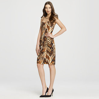 Anne Klein Tiger Print Sheath Dress