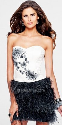 Faviana Glamour Feather Strapless Party Dresses