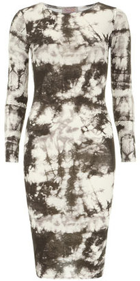 Dorothy Perkins Black/grey tie dye midi dress