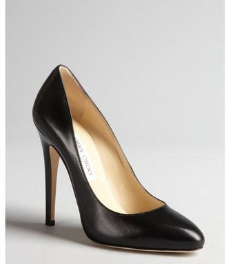 Jimmy Choo black leather 'Victoria' pumps