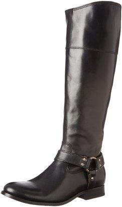 Frye Women's Melissa Harness Inside Zip Black Soft Vintage Leather Boot 5.5 B - Medium