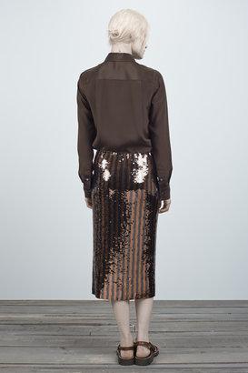 Marc Jacobs Stripe Sequin Pencil Skirt