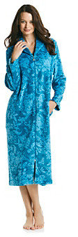 Karen Neuburger KN Floral Plush Long Zip Robe