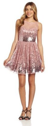 Ruby Rox Juniors Sequin Tulle Party Dress