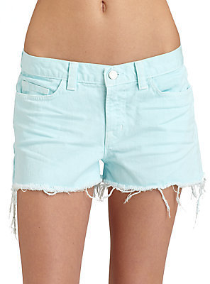 J Brand Low-Rise Cut-Off Shorts