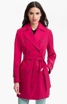 Via Spiga Studded Double Breasted Trench Coat (Online Only)