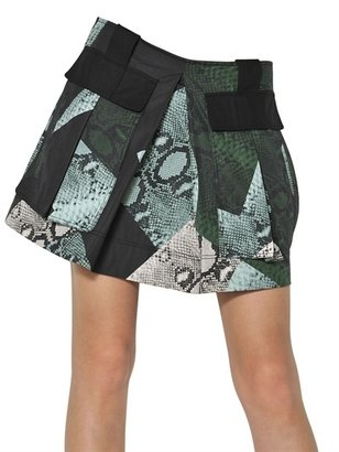 Proenza Schouler Printed Heavy Cotton Poplin Skirt