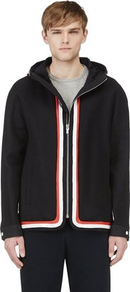 Moncler Gamme Bleu Navy Woven Hooded Jacket