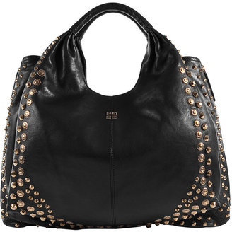 Givenchy Black/Gold Shoulder Bag With Metal Studs
