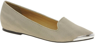 River Island Hidden Wedge Mink Pointed Slipper Shoes