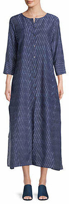 Theory Weekend Button-Down Maxi Dress