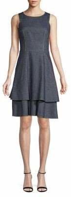HUGO Denim Fit Flare Dress