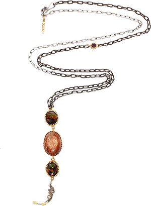 BOAZ KASHI Ruby and Agate Extreme Necklace