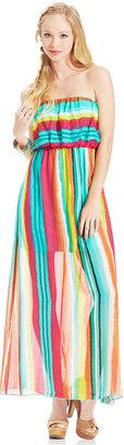 Ruby Rox Juniors' Striped Maxi Dress