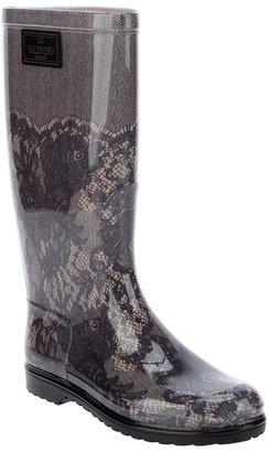 Valentino Garavani lace printed welligton boot