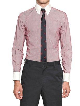 Thom Browne Striped Cotton Slim Fit Shirt