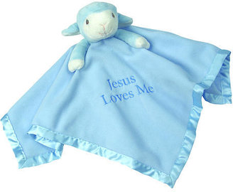 Precious Moments Jesus Loves Me Blue Lamb Blanket