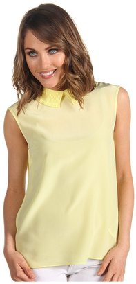 Ted Baker Alima Pleat Back Top (Pale Yellow) - Apparel