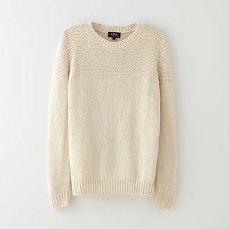 A.P.C. garter stitch nautical sweater