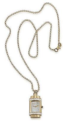 Carolee Retro Pendant Watch Necklace