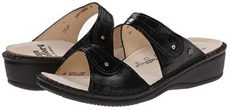 Finn Comfort Catalina - 2538 (Black Patent Soft Footbed) Women's Slide Shoes