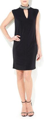 Wallis Black Embellished High Neck Dress