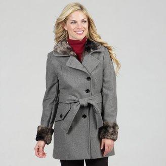 Esprit Women's Heather Grey Asymmetrical Belted Jacket $34.39 thestylecure.com