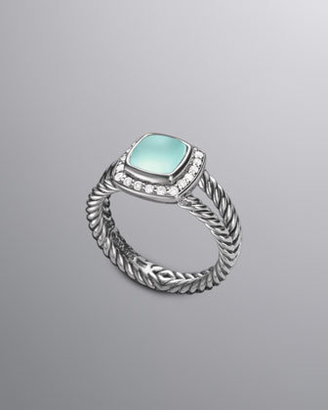 David Yurman Petite Albion Ring, Aqua Chalcedony