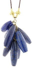 Lapis Other Designers Large Cluster Necklace with Bali Beads