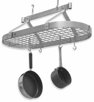 Enclume Premier Collection 3-Foot Oval Pot Rack with Grid