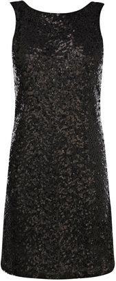 Oasis Sequin V Back Dress