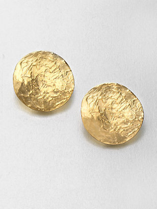 Kenneth Jay Lane Textured Clip-On Button Earrings
