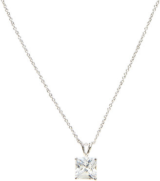 Kenneth Jay Lane CZ by Emerald-Cut CZ Pendant Necklace