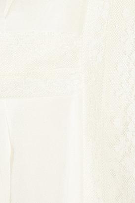 Philosophy di Alberta Ferretti Lace-trimmed silk-chiffon top