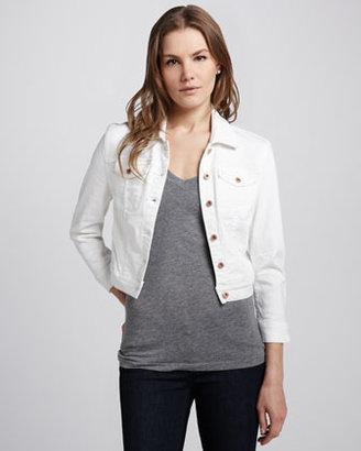 Blank Cropped Denim Jacket
