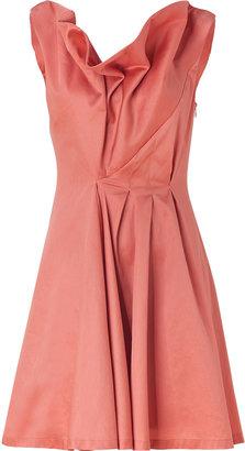 Cacharel Rosewood Draped Cotton Dress
