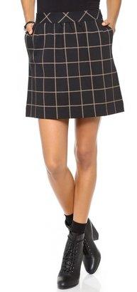 Madewell Knit Grid Skirt