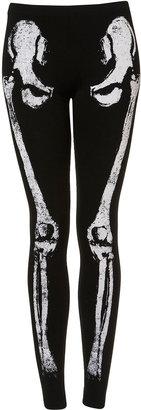 Topshop Skeleton Embellished Leggings