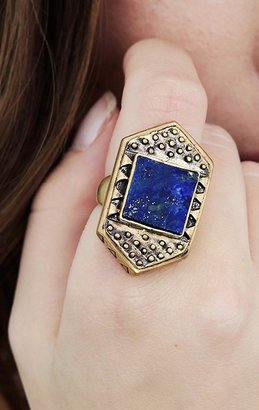 A Peace Treaty Tlaloc Gold Ring