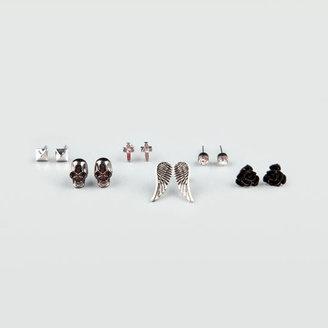 Full Tilt 6 Piece Skull/Rose/Wing Earrings