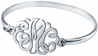 JCPenney FINE JEWELRY Personalized Sterling Silver Monogram Bangle