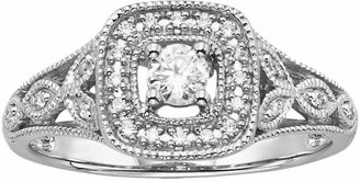 Vera Wang Simply Vera Diamond Halo Engagement Ring in 14k White Gold (1/4 ct. T.W.)