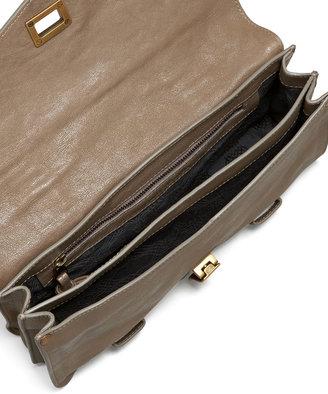 Proenza Schouler PS1 Leather Pochette, Smoke