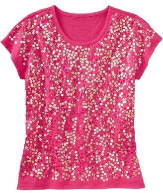 Old Navy Girls Sequined Jersey Tees