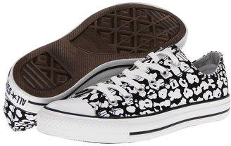 Converse Chuck Taylor All Star Printed Canvas Ox (Black/White) - Footwear