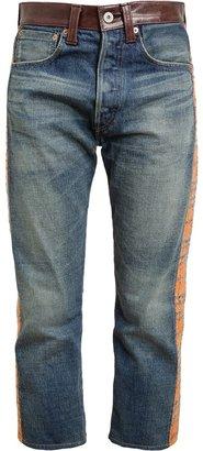 Junya Watanabe Tweed and Denim Cropped Jeans