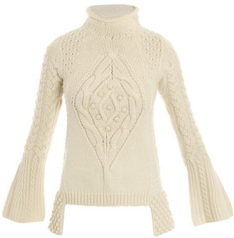 Alexander McQueen Chunky Aran-knit sweater