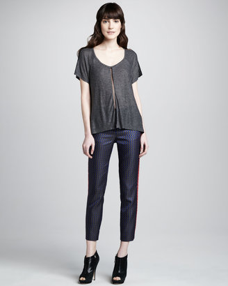 Elizabeth and James Dion Cropped Printed Trousers