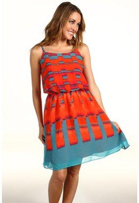 Calvin Klein Jeans Square Ikat Print Dress (Firecracker) - Apparel